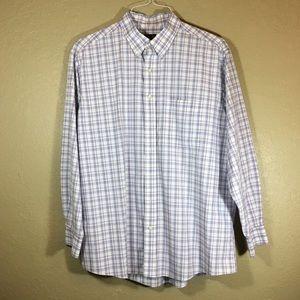 Jos. A Bank Traveler's Collection purple shirt XL